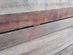 Hardhouten paal 6x6x150cm