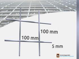 Draadmat verzinkt 100x100x5,0mm